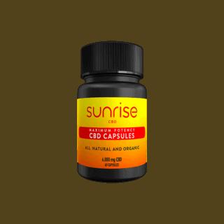 Sunrise CBD Capsules 6000mg