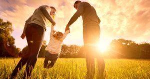 Happy family benefits of CBD